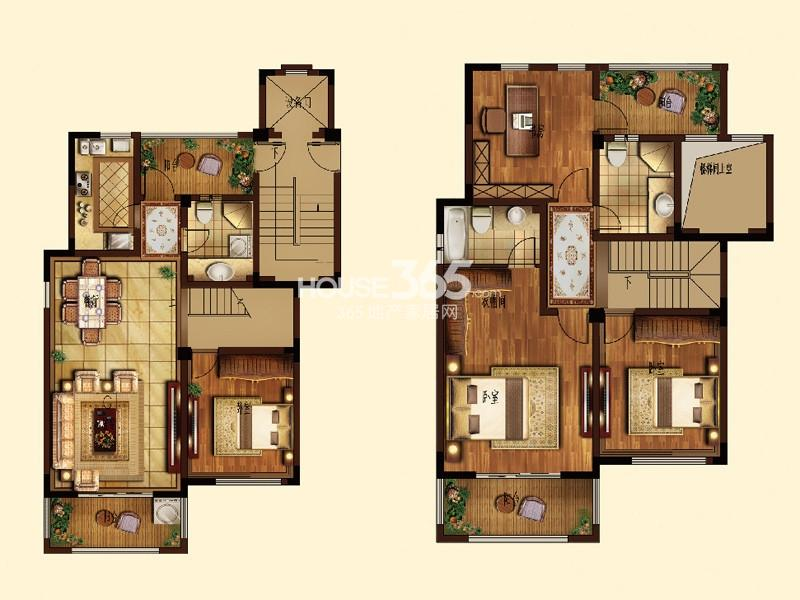 G-2户型4室2厅3卫1厨 186.48㎡