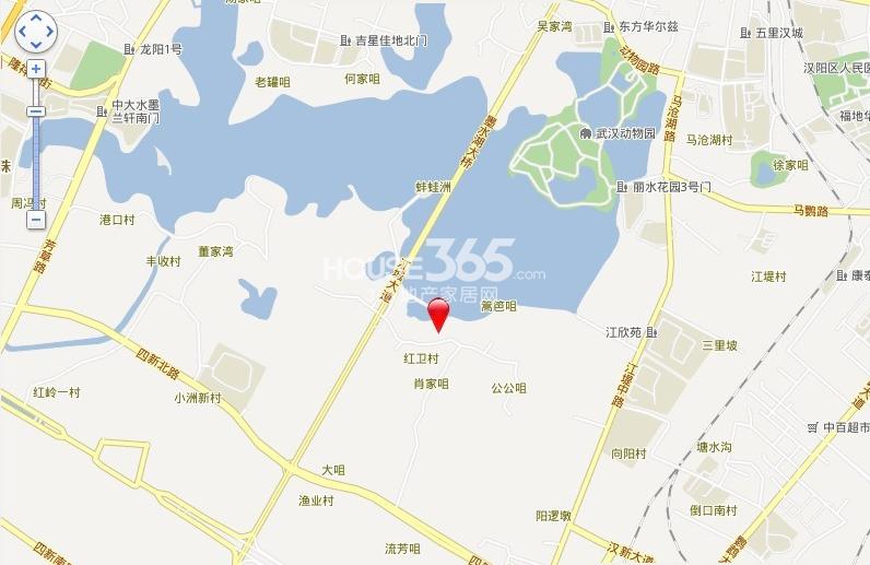 卧龙墨水湖边交通图