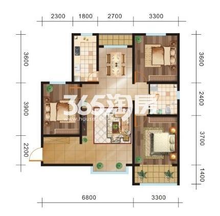 三室两厅一卫115.39㎡