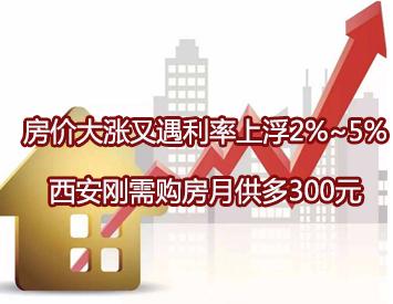 房价大涨又遇利率上浮2%~5%