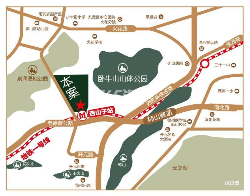 山湖湾交通图