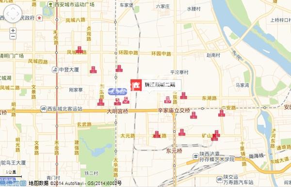 珠江新城二期交通图