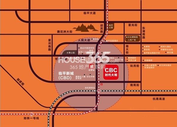 CBC时代大观交通图