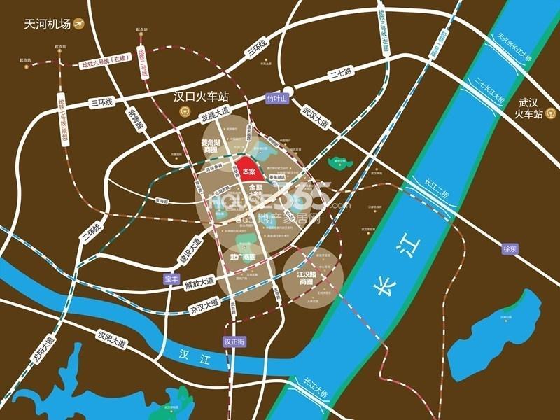 CFD时代财富中心交通图