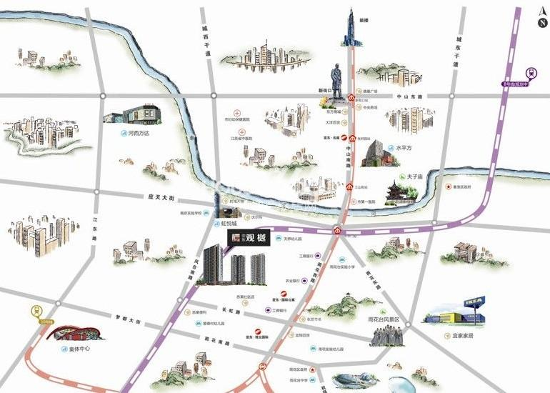 亚东观樾交通图