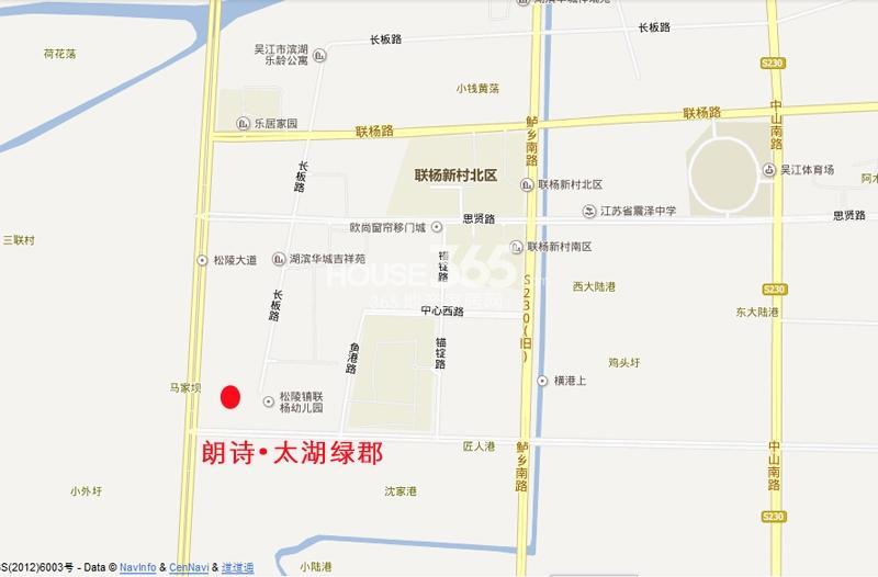 朗诗滨湖绿郡交通图