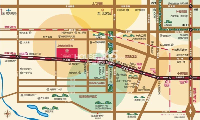 伟业公馆交通图