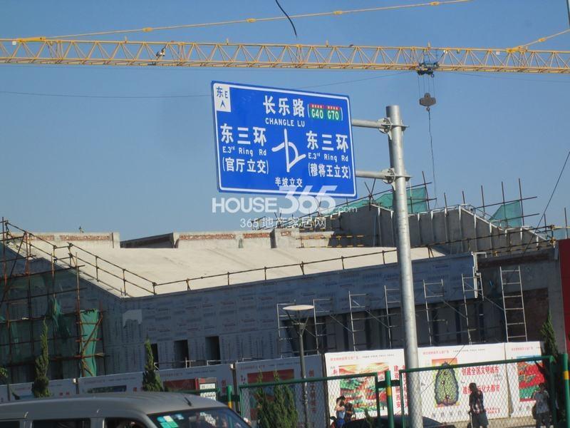御锦城周边区位图(2014年9月3日实拍)