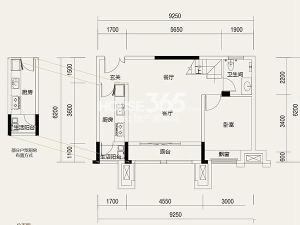 协信城立方一期洋房户复式B户型_跃下2室2厅2卫1厨 101.00㎡