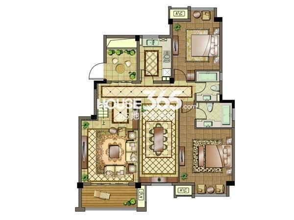 3#-五层-两房两厅两卫 130平