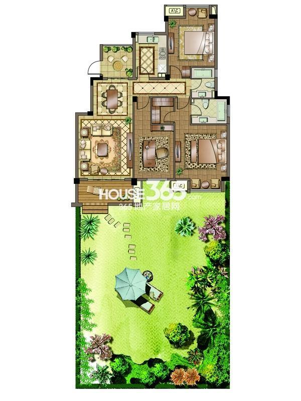 3#-一层-三房两厅两卫 130平