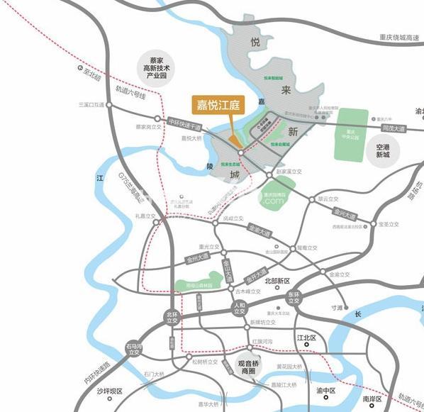 嘉悦江庭交通图