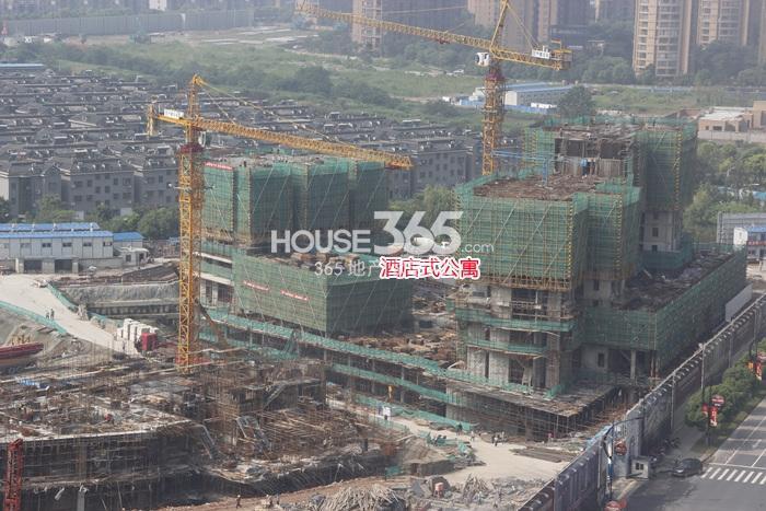 理想银泰城项目酒店式公寓施工进程(2014.9)