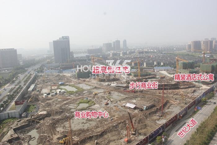 理想银泰城项目整体施工进程(2014.9)
