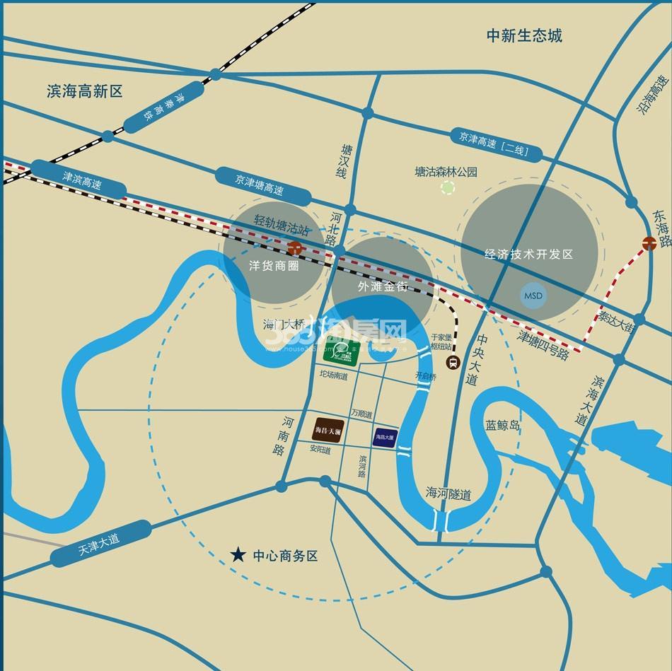 碧桂园海昌天澜交通图
