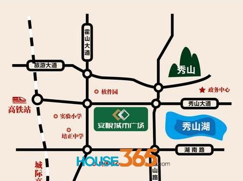 安粮城市广场交通图