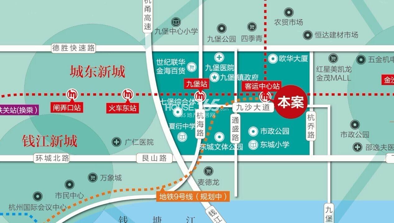 地铁东城广场交通图