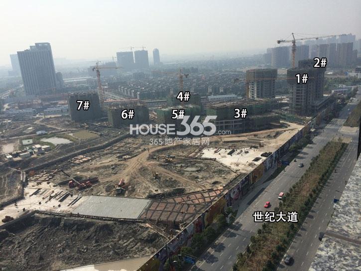 理想银泰城项目1—7号楼施工进程(2014.10)
