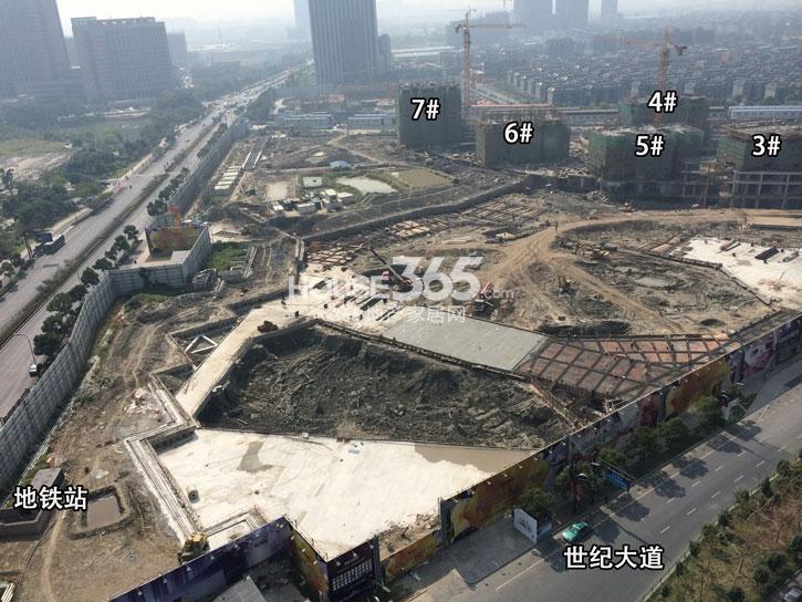 理想银泰城项目3—7号楼施工进程(2014.10)