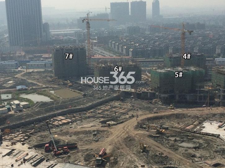 理想银泰城4—7号楼施工进程(2014.10)