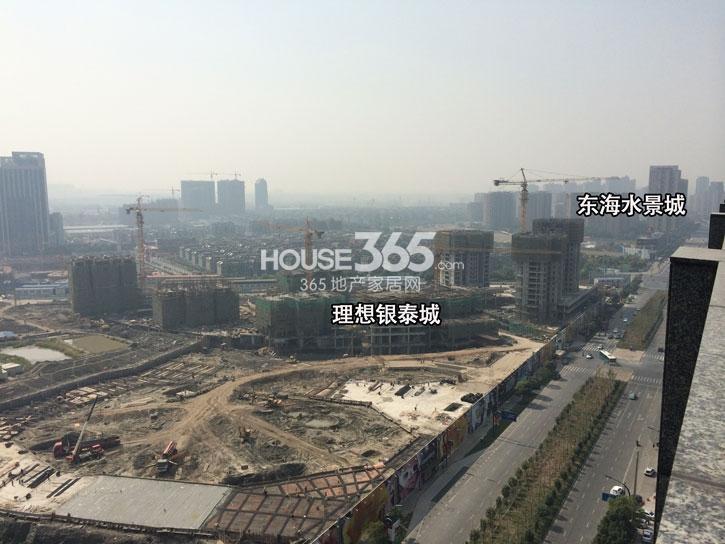 理想银泰城项目施工进程鸟瞰图(2014.10)