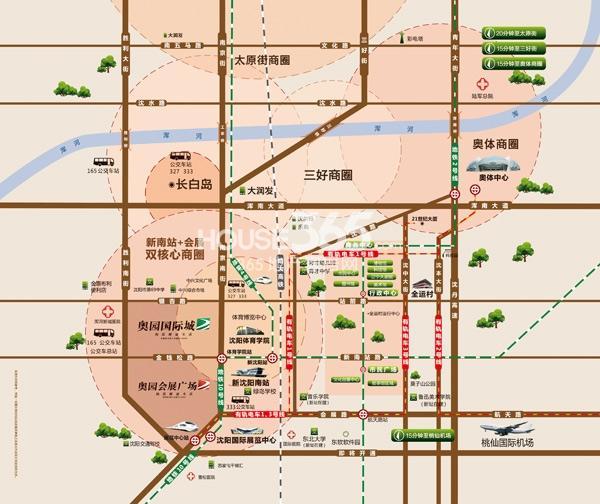奥园会展广场交通图