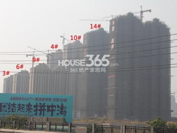 中海凤凰熙岸工程进度全景图(2014.10)