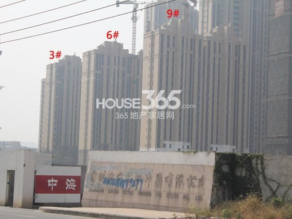 中海凤凰熙岸3#、6#、9#工程进度实景图(2014.10)