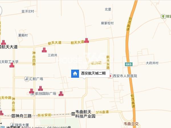 西安航天城二期交通图