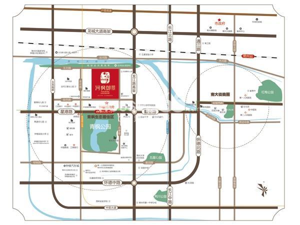 河枫御景交通图