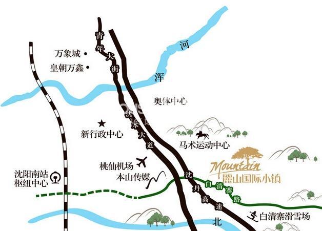 丽山国际小镇交通图