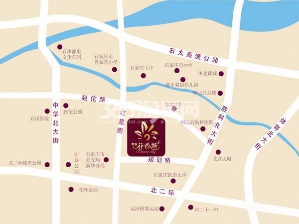 明瀚花香城交通图