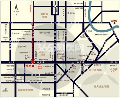 金融街(南开)中心交通图