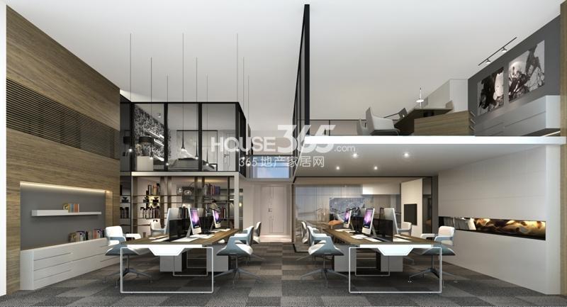 loft公寓装修效果图-富力天贸广场