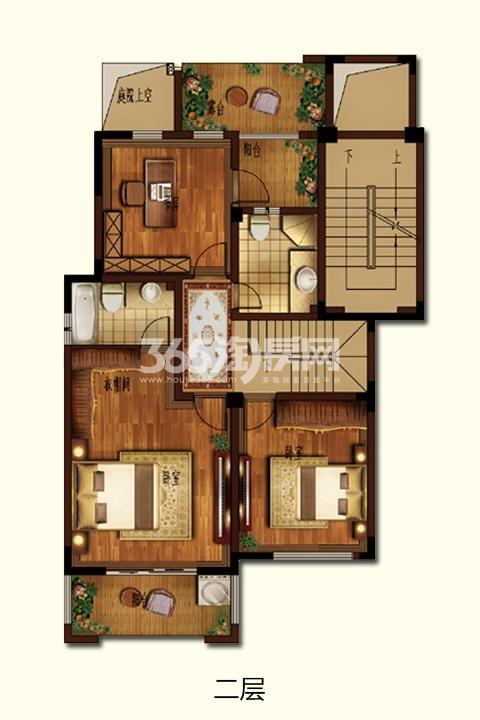 G-1四房两厅三卫 259.04㎡二层