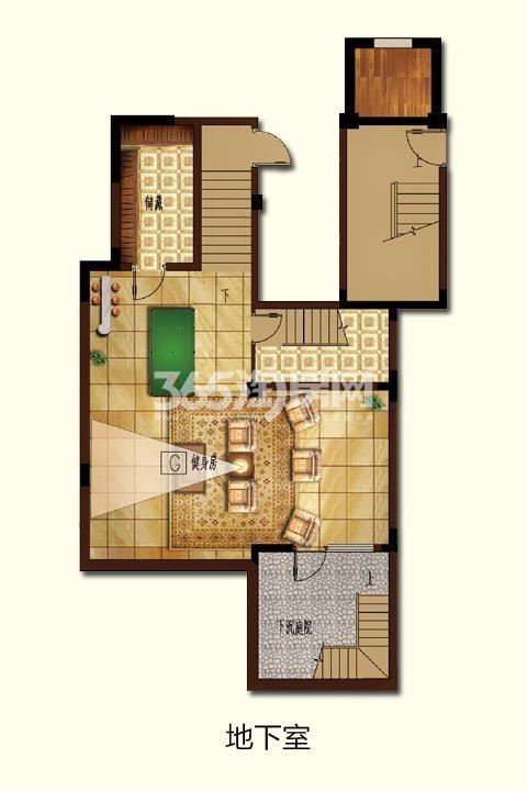 G-1四房两厅三卫 259.04㎡地下室