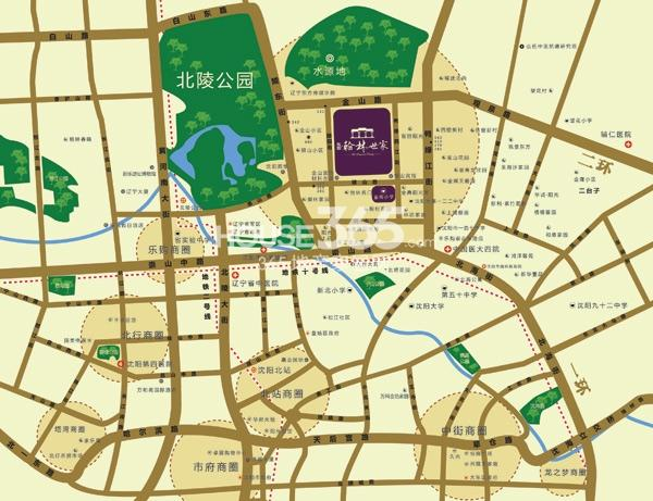 东亚翰林世家交通图