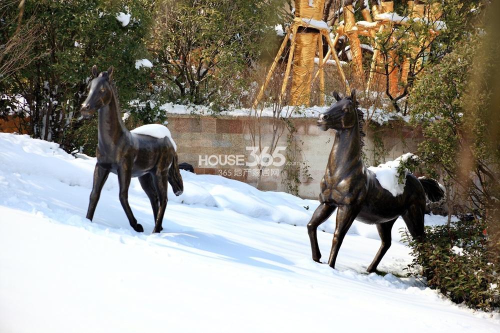 高科荣境一期别墅雪景实景图