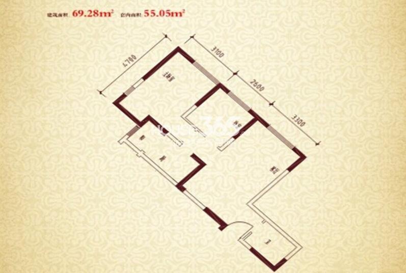 珠江新城二期J户型