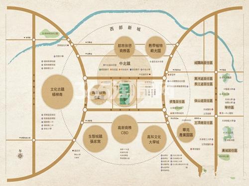 雲锦世家交通图