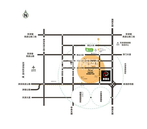 MSD东壹区交通图