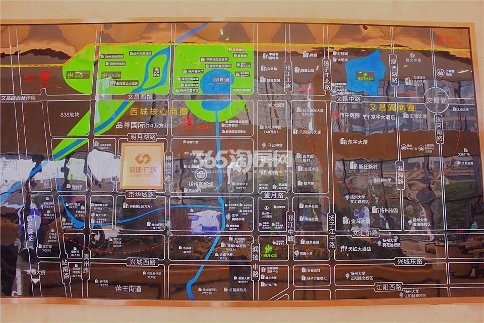 昌建广场交通图