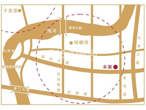 滨海国泰大厦交通图