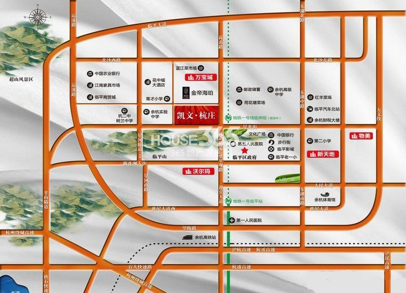 凯文杭庄交通图