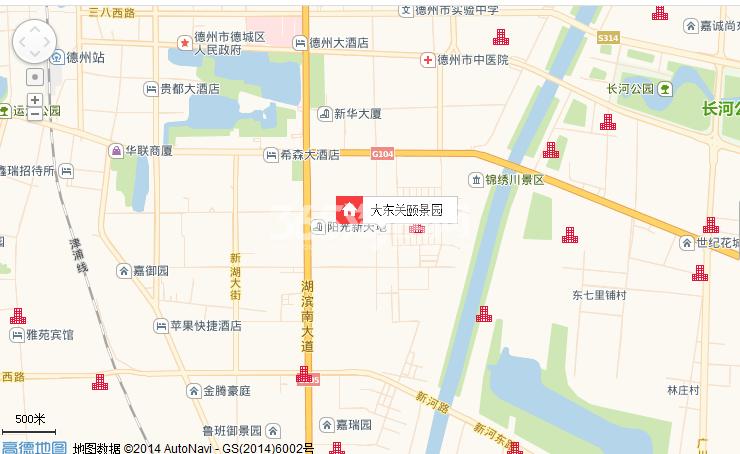大东关颐景园交通图