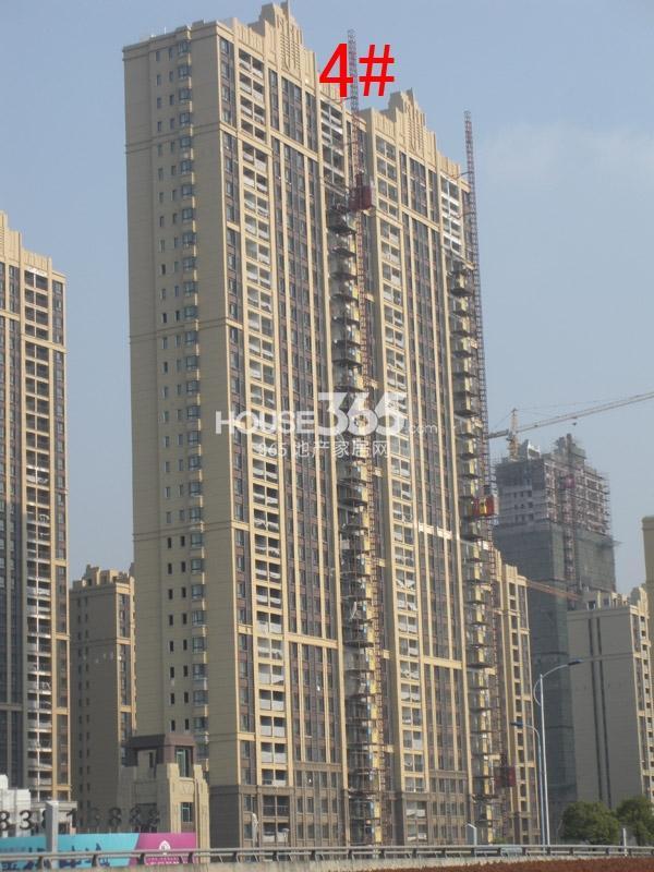 中海凤凰熙岸4#楼工程进度图(2014.12)