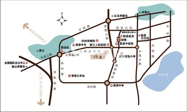 状元城交通图