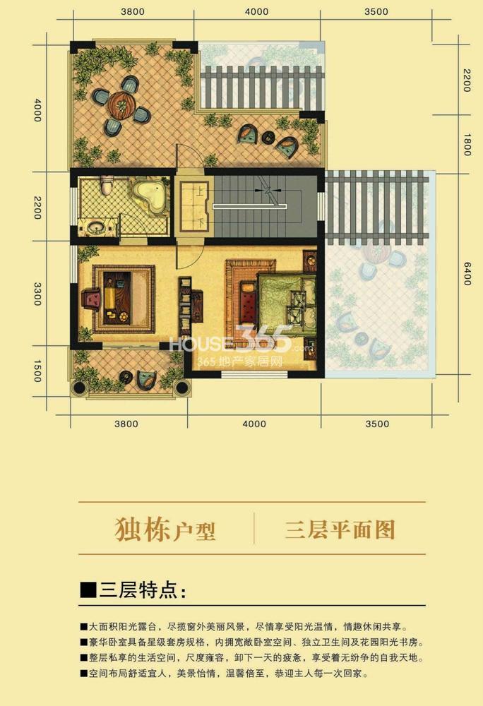 凤凰小镇青林湾独栋别墅三层户型图