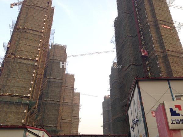 宝龙城市广各楼栋工程进度全景图(2015.1)