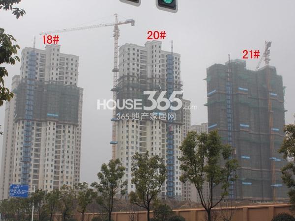 华润国际社区18#、20-21#楼工程进度全景图(2015.1)